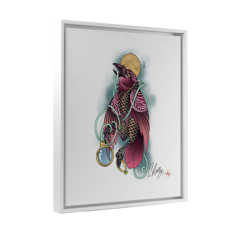 Caleb Ledley - Crestfallen - Floating Frame Canvas