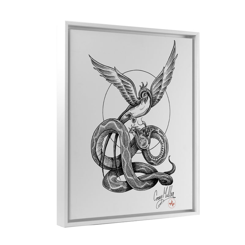 Corey Miller - Rise Above - Floating Frame Canvas