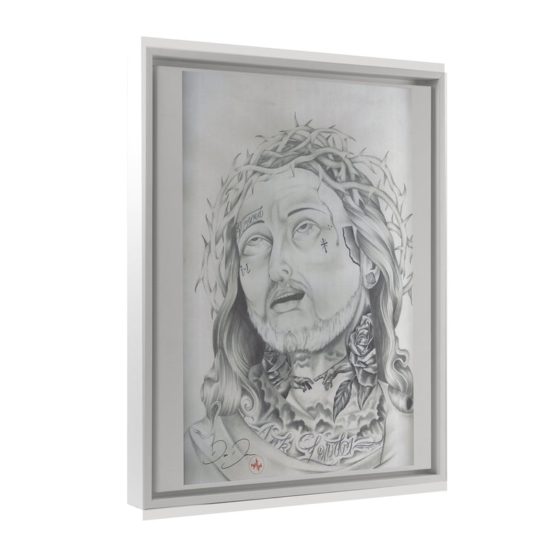 Dago Dane - Jesus Piece - Floating Frame Canvas