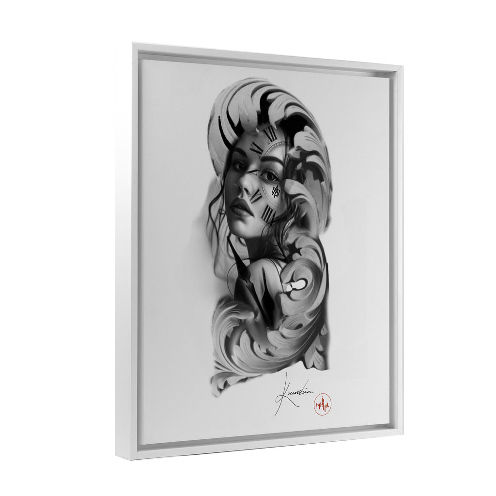 Kumbia - Timeless Woman - Floating Frame Canvas