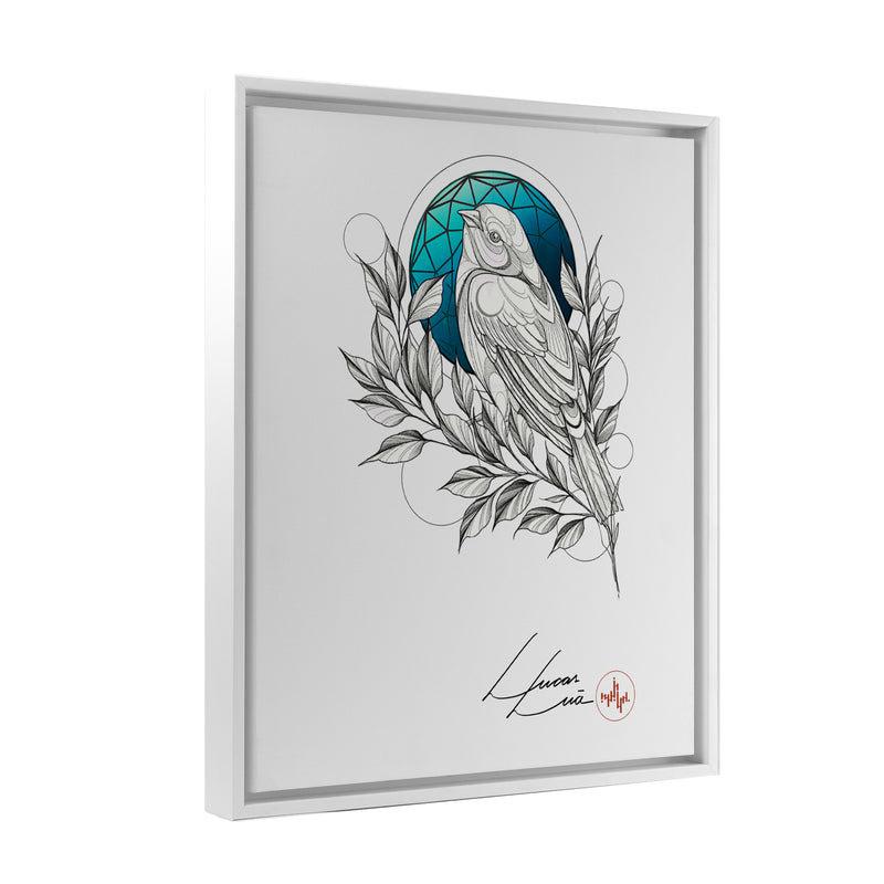Lucas Lua - Blue Night - Floating Frame Canvas