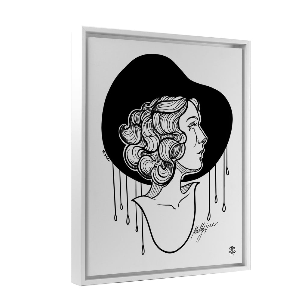 Molly Vee - Crying In The Rain - Floating Frame Canvas