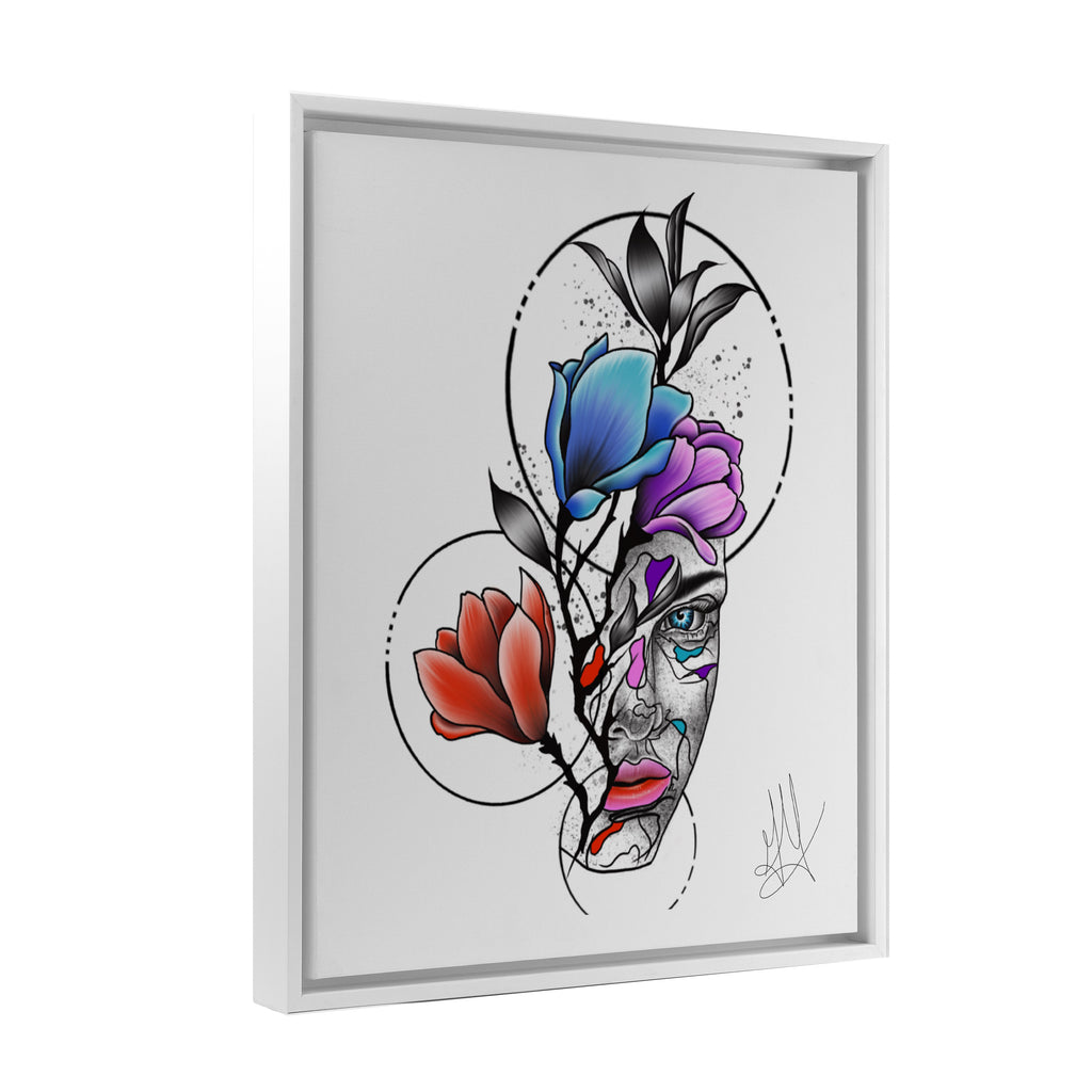 Gady Tattoo - HER - Floating Frame Canvas