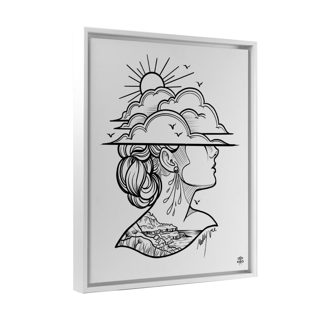 Molly Vee - Lady Of The Giants Causeway - Floating Frame Canvas