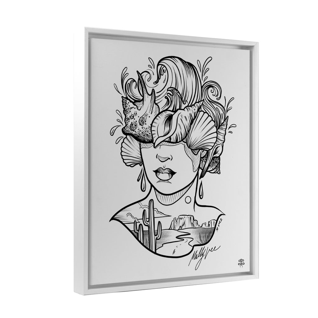 Molly Vee - From The Desert To The Shore - Floating Frame Canvas