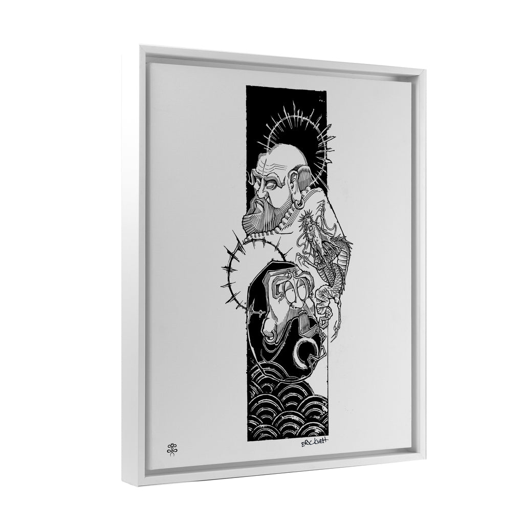 Eric Kueh - Bodhidharma Enlightenment - Floating Frame Canvas