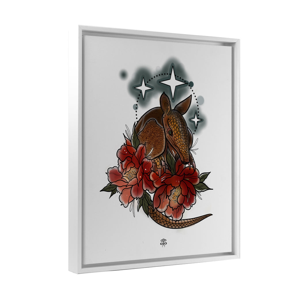 Naysla Droguett - Armadillo - Floating Frame Canvas