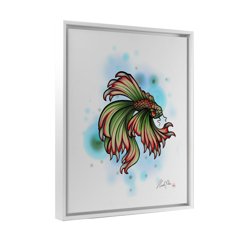 Nicole Elisa - Tooth Fish - Floating Frame Canvas