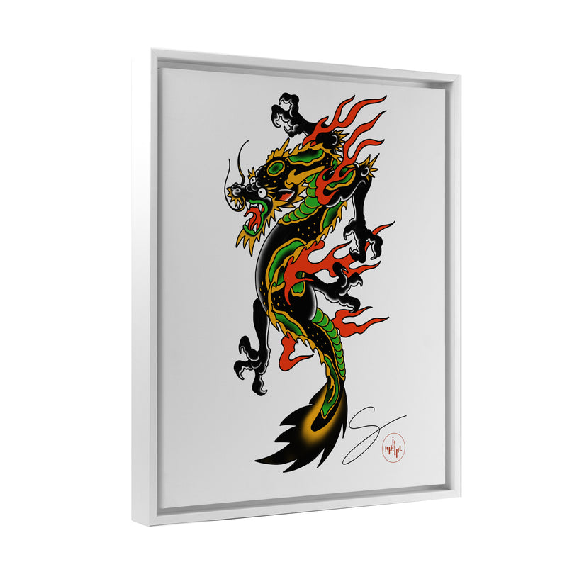 Seth Alexander - Americana Dragon Full - Floating Frame Canvas