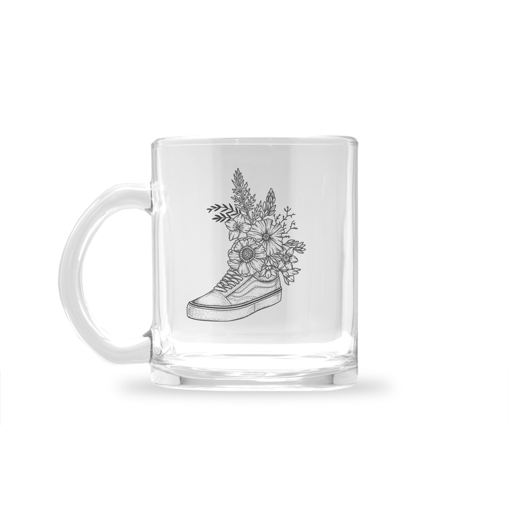Andrea Din Don - Floral Vans - Glass Mug