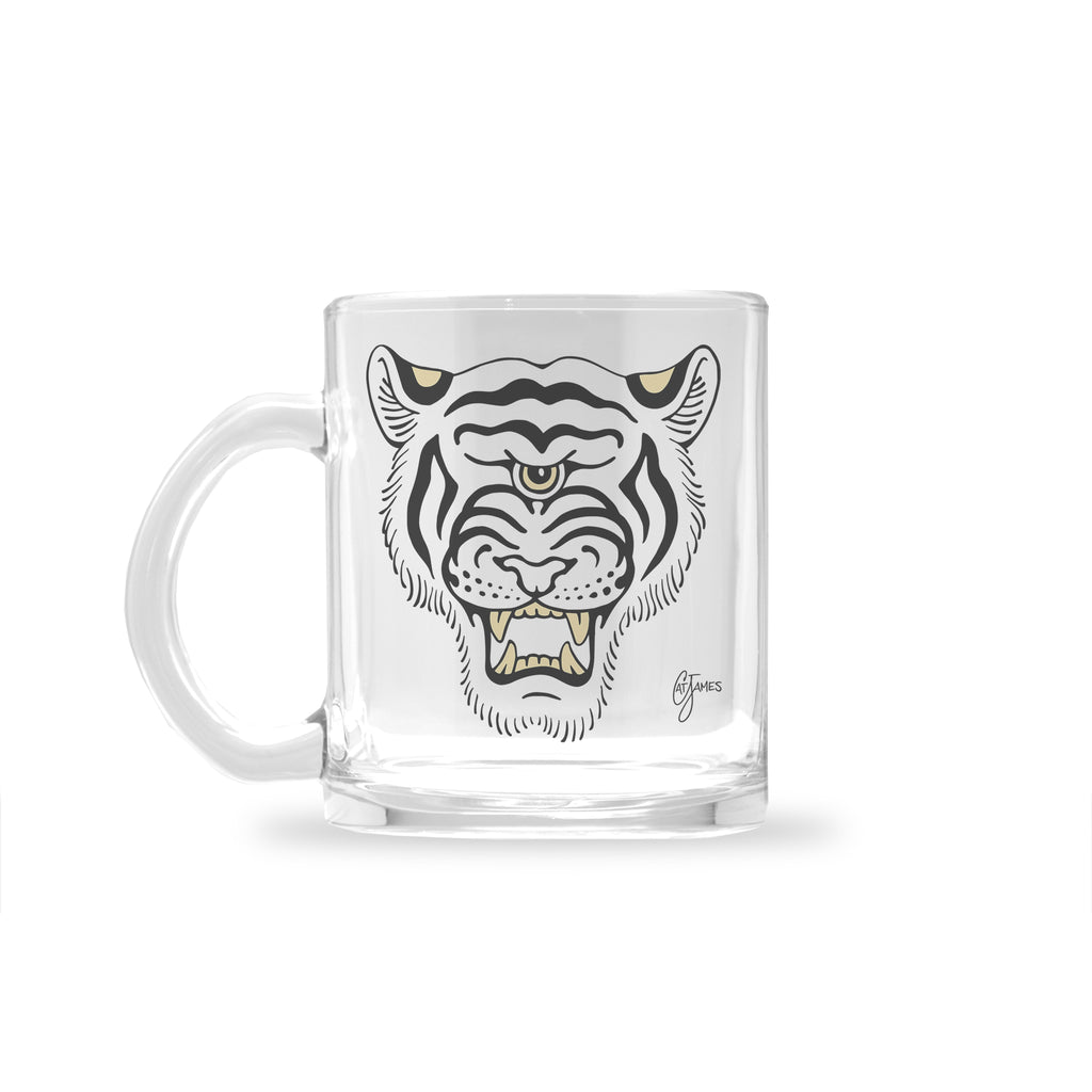 Cat James - Gato - Glass Mug