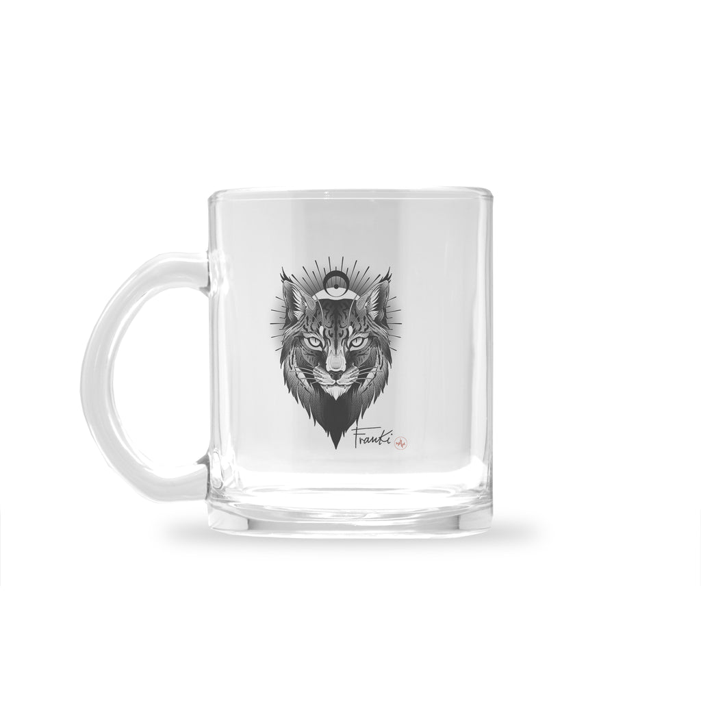 Franki Tattoo - Lynx - Glass Mug