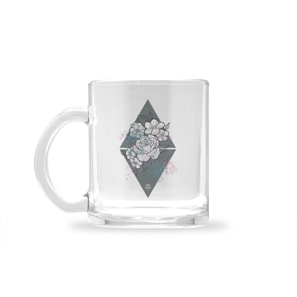Jordan Rose x Inked Soul - Flowers in Pastel - Glass Mug