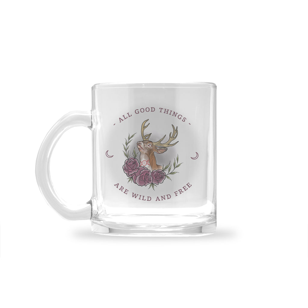 Jordan Rose x Inked Soul - Witchy Stag - Glass Mug