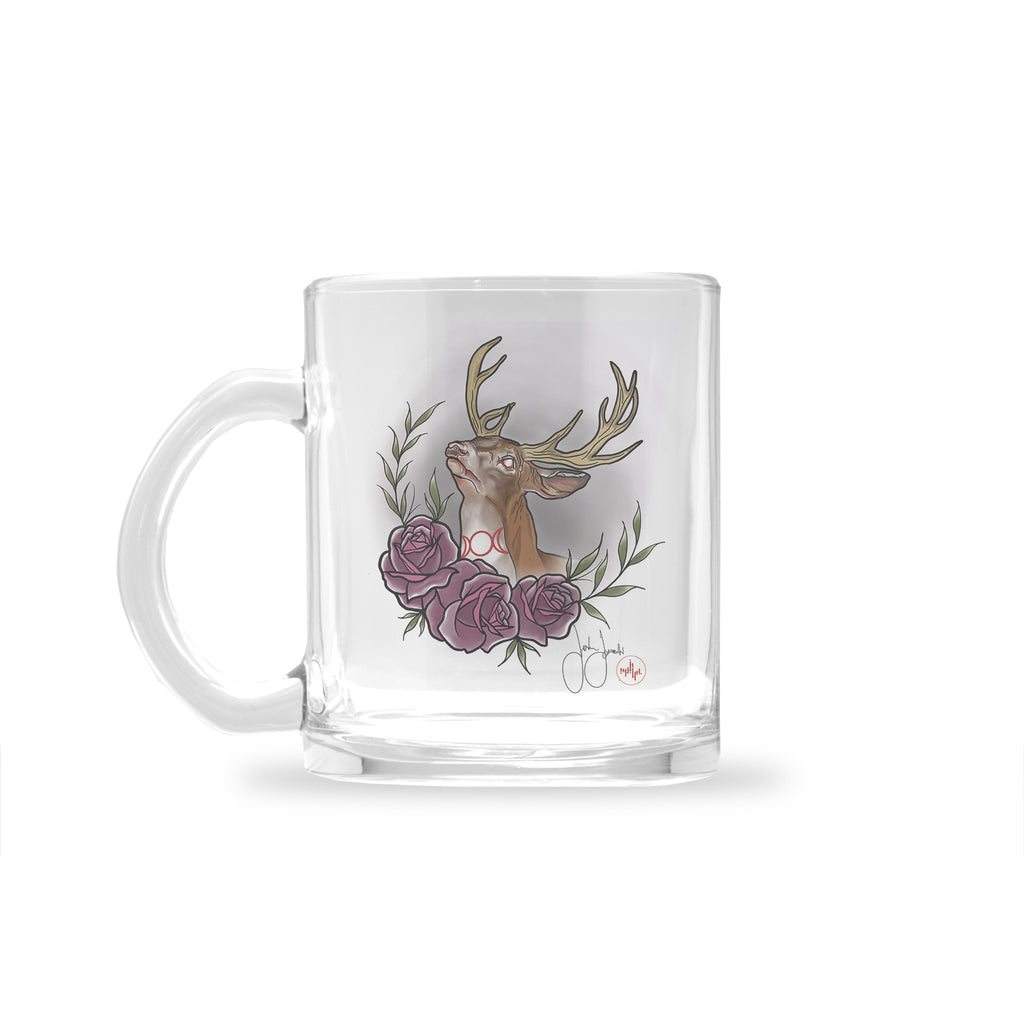 Jordan Rose - Witchy Stag - Glass Mug