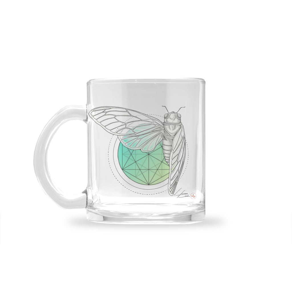 Lucas Lua - Green Afternoon - Glass Mug