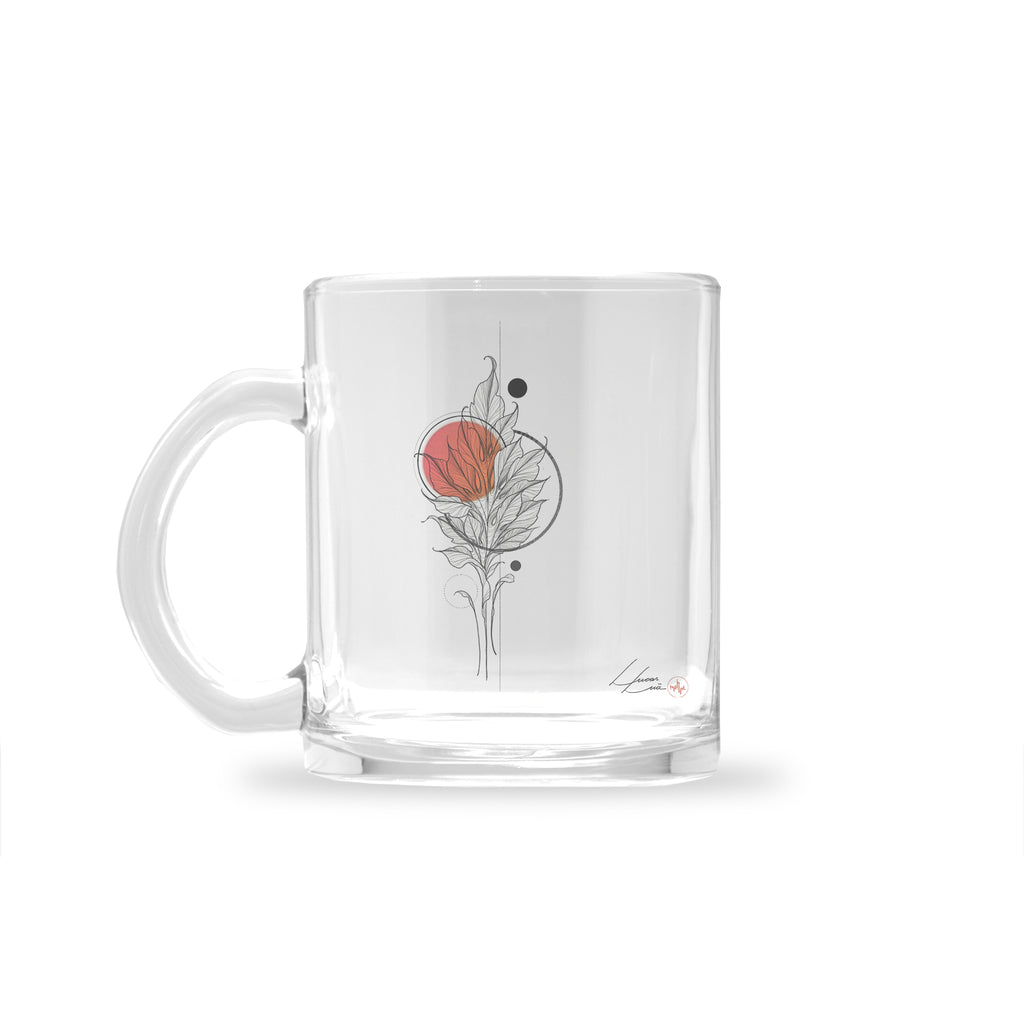 Lucas Lua - Leaf Orange - Glass Mug