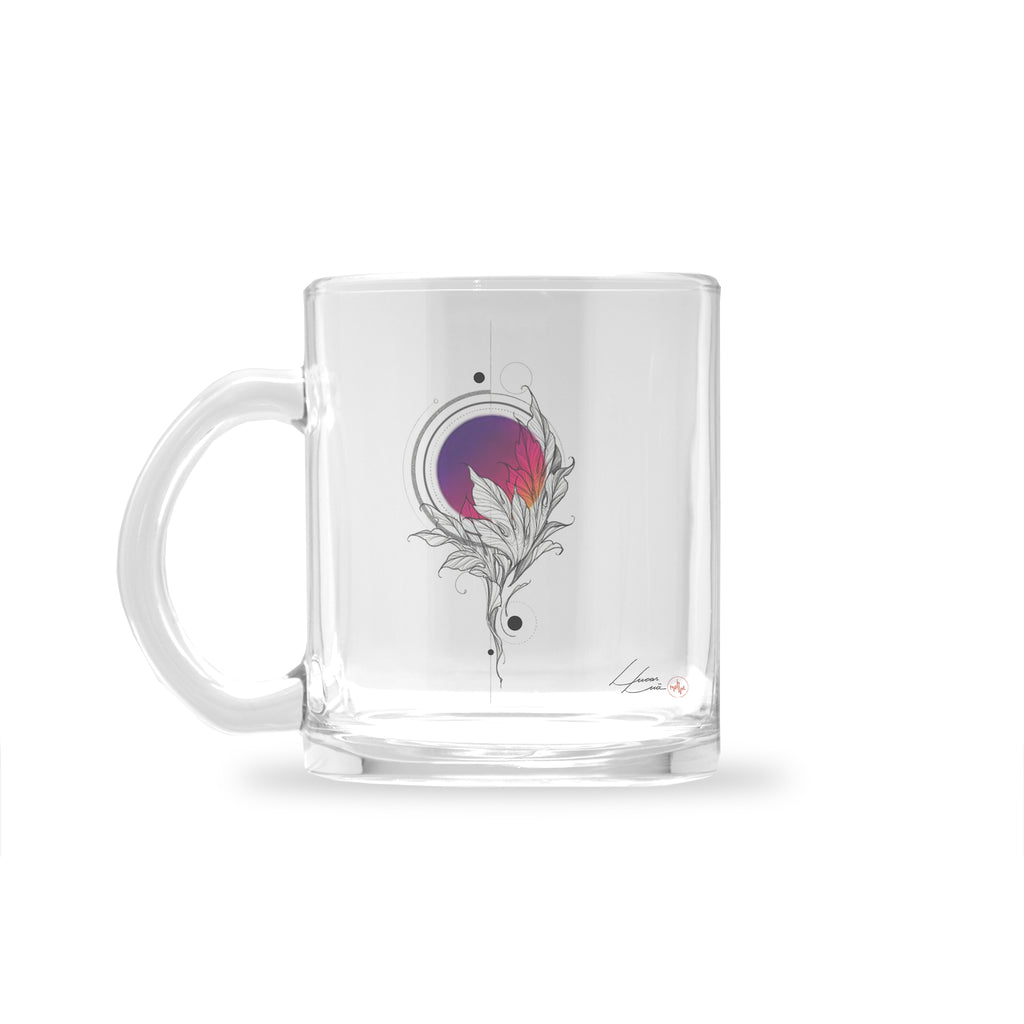 Lucas Lua - Leaf Pink - Glass Mug
