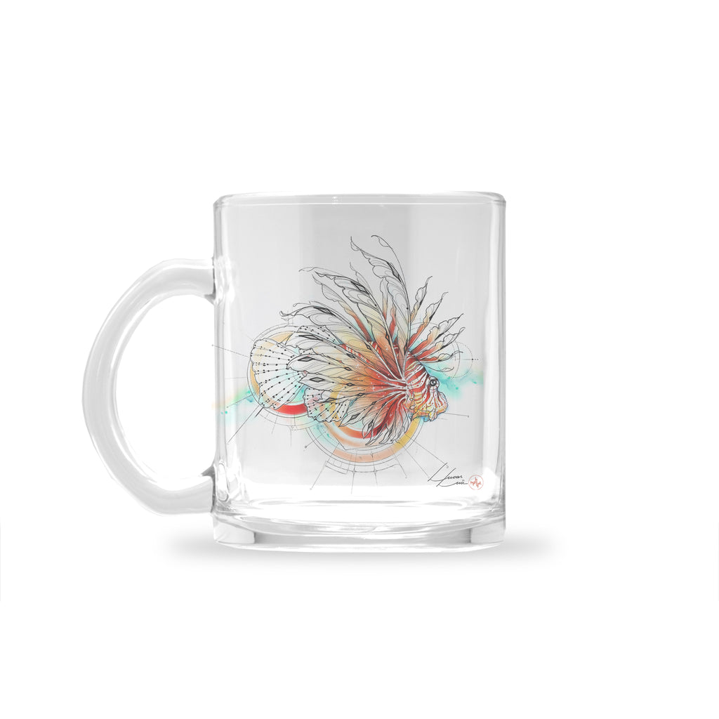 Lucas Lua - Lionfish - Glass Mug
