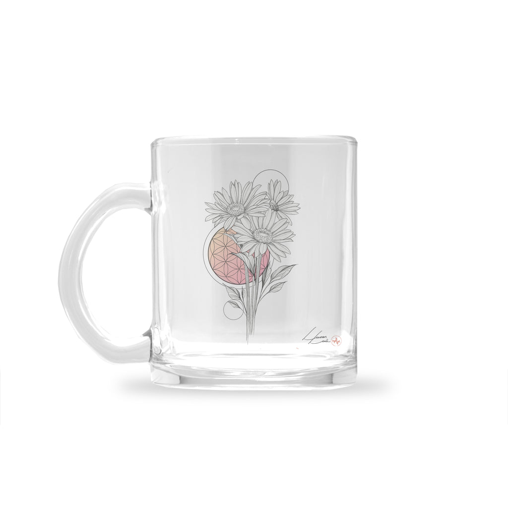 Lucas Lua - Peachy Morning - Glass Mug