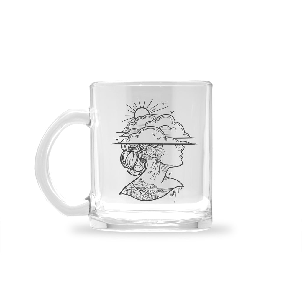 Molly Vee - Lady Of The Giants Causeway - Glass Mug