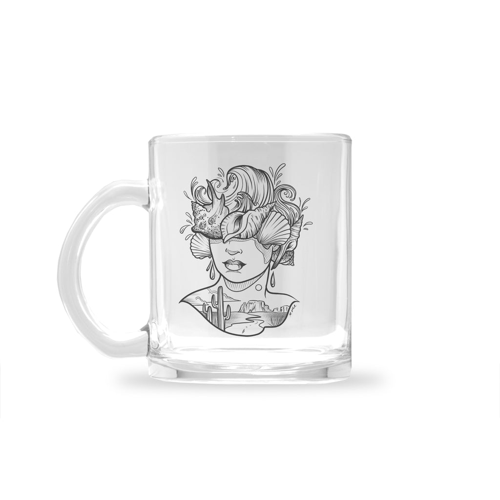 Molly Vee - From The Desert To The Shore - Glass Mug