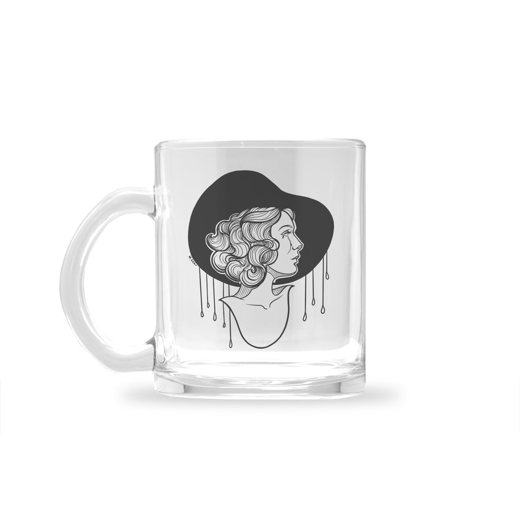 Molly Vee - Crying In The Rain - Glass Mug