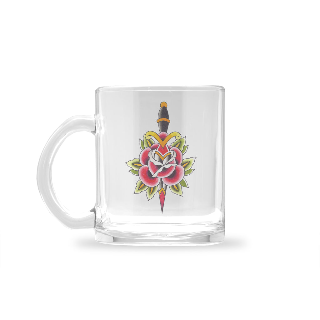 Ryan Blanchard - Rose n Dagger - Glass Mug