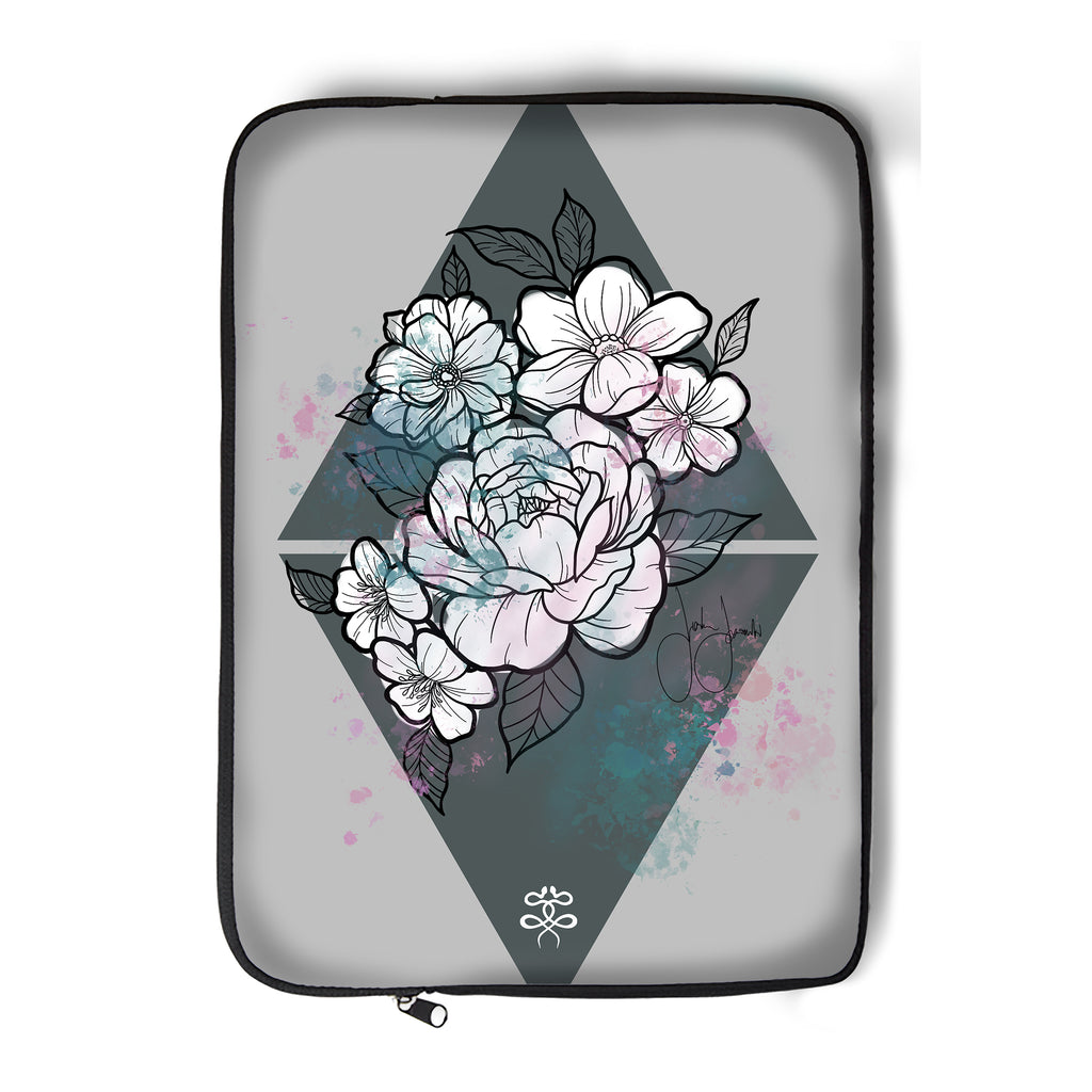 Jordan Rose x Inked Soul - Flowers in Pastel - Laptop Sleeve