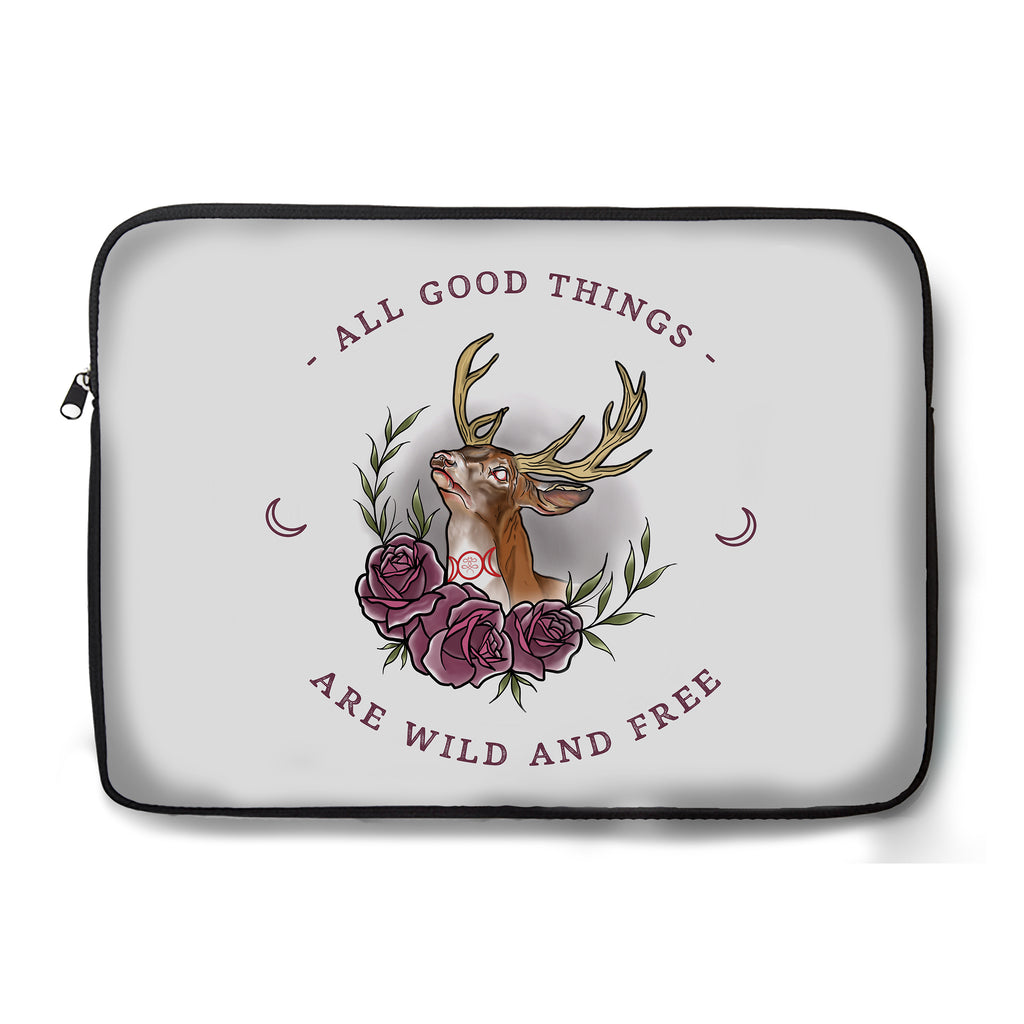 Jordan Rose x Inked Soul - Witchy Stag - Laptop Sleeve