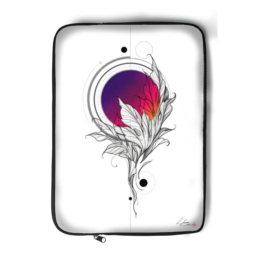 Lucas Lua - Leaf Pink - Laptop Sleeve