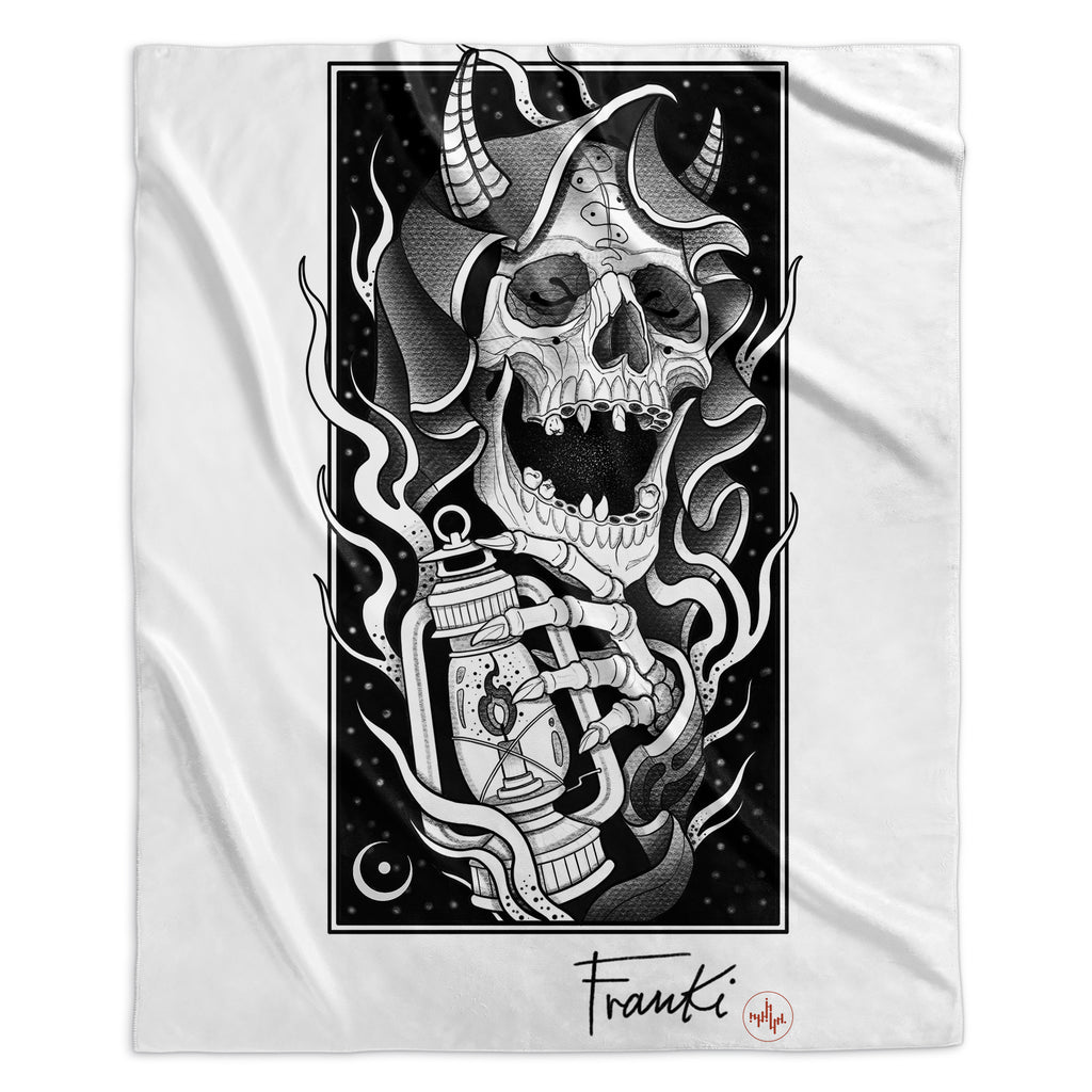 Franki Tattoo - The Light of the Grim Reaper - Sherpa Blanket