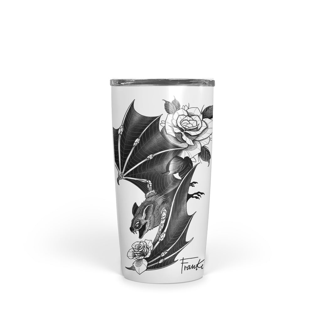 Franki Tattoo - Bat and Roses - Tumbler