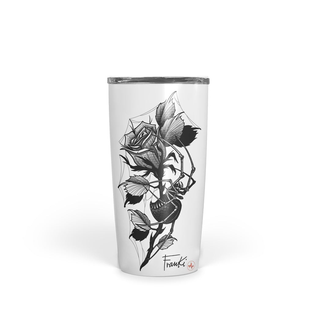 Franki Tattoo - Spider in the Rose - Tumbler