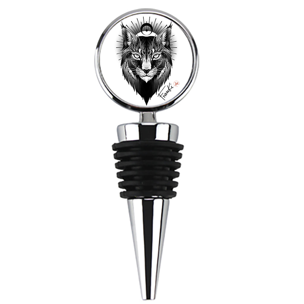 Franki Tattoo - Lynx - Wine Stopper