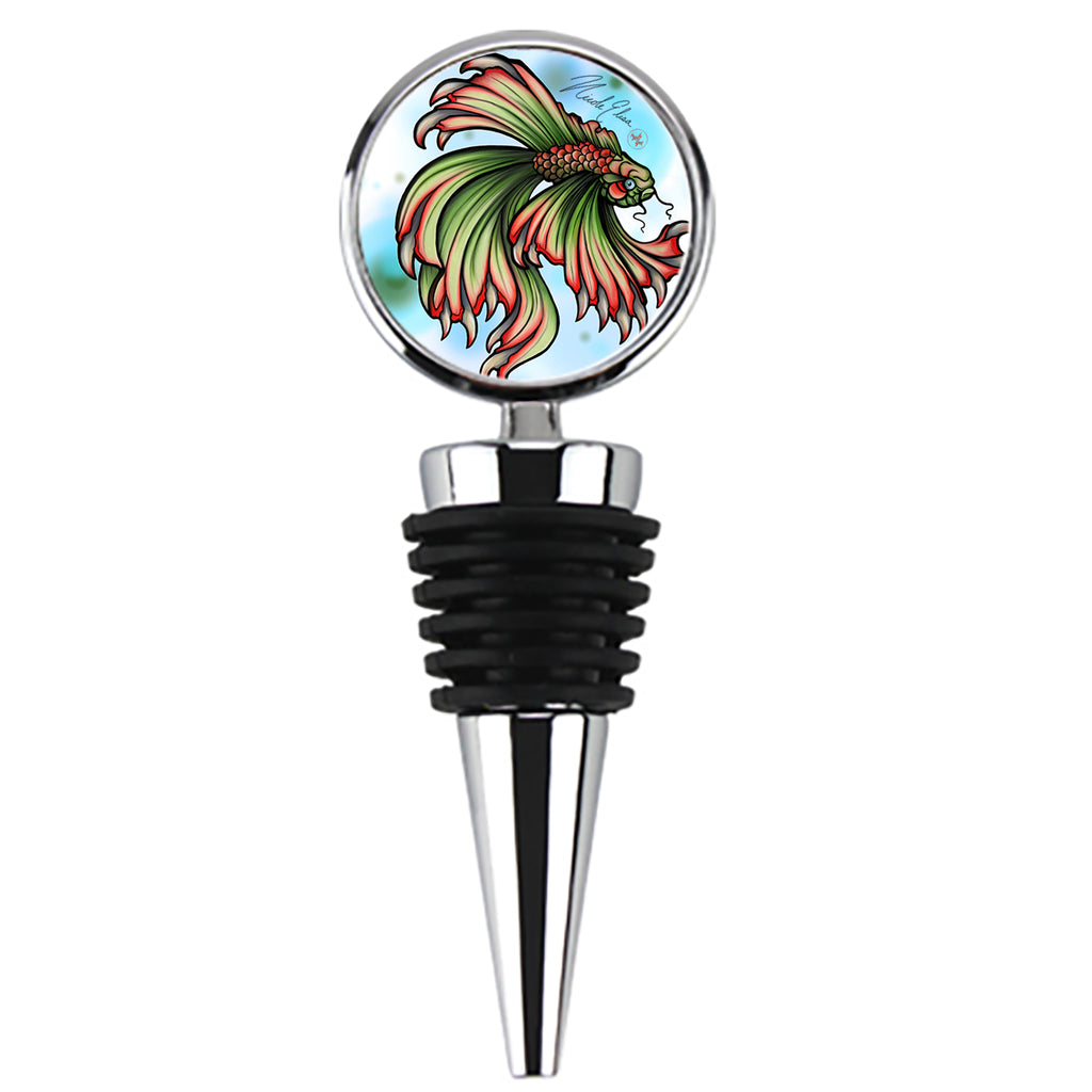 Nicole Elisa - Tooth Fish - Wine Stopper