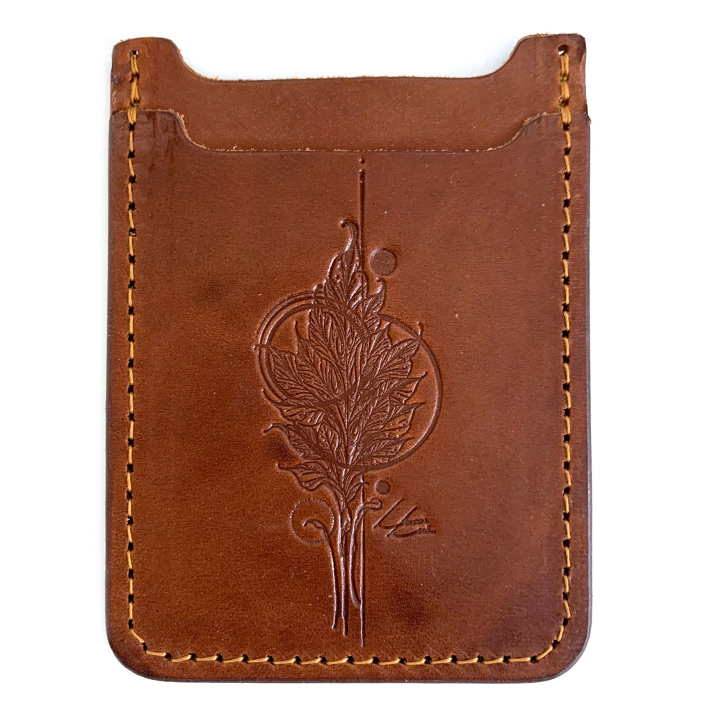 Lucas Lua - Leaf Orange- Leather Minimalist Wallet