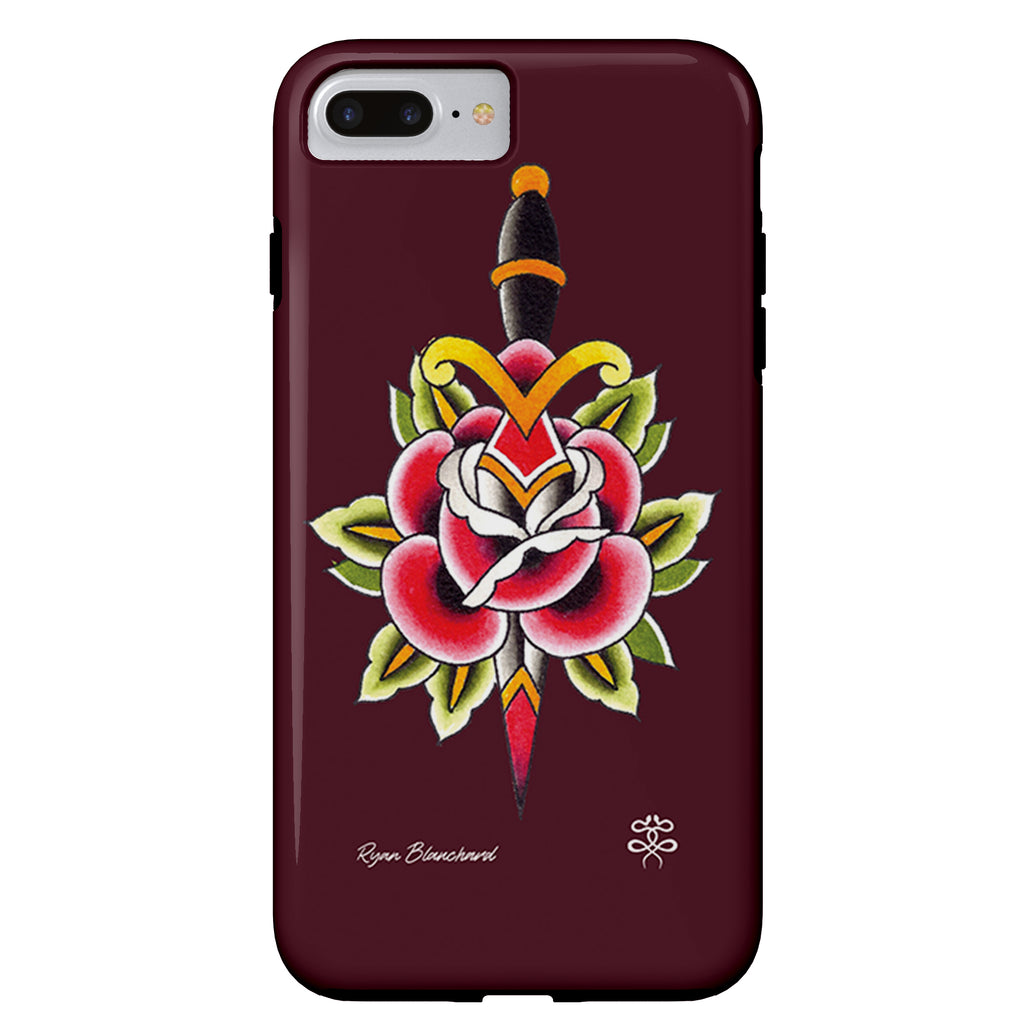 Ryan Blanchard - Rose n Dagger - iPhone Case