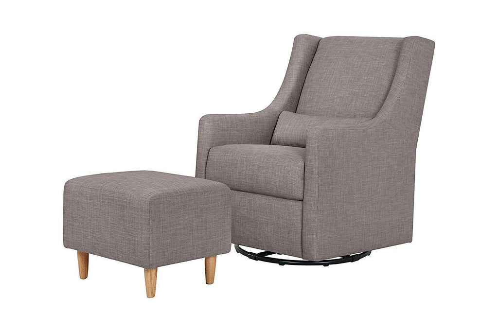 Babyletto Toco Swivel Glider and Stationary Ottoman