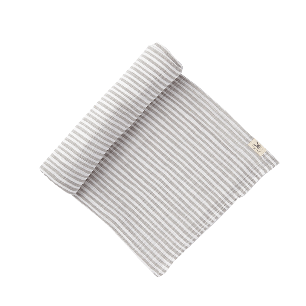 Striped Swaddle - Grey