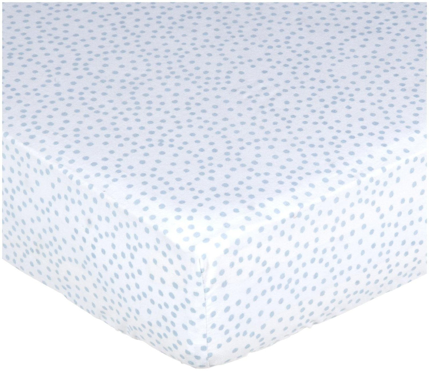 Blue Dots Crib Sheet