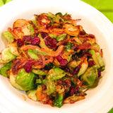Browned Brussel Sprouts with Cranberries