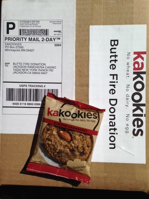 Butte Fire Kakookies Cookie Donation
