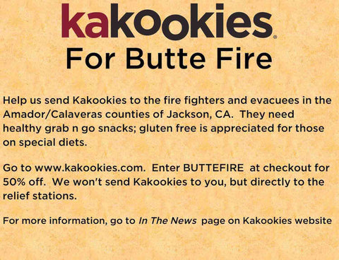 Butte Fire Cookie Kakookies Donation