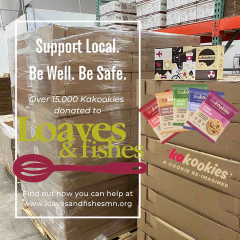 Kakookies partners with local Minnesota organization Loaves and Fishes to support the community