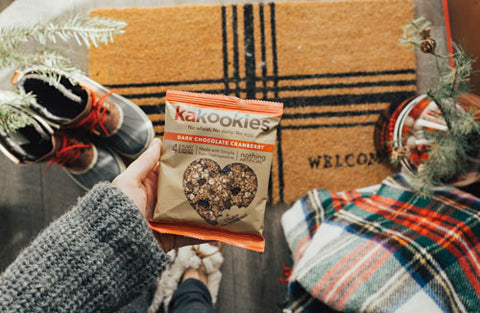 Kakookies Grab and Go Dark Chocolate Cranberry Delicious Superfood Vegan Gluten Free Energy Snack Cookies