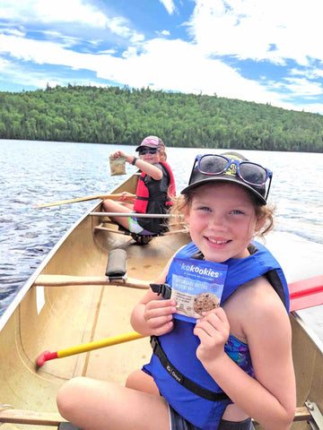 Kids enjoying a Boundary Waters Blueberry Kakookies