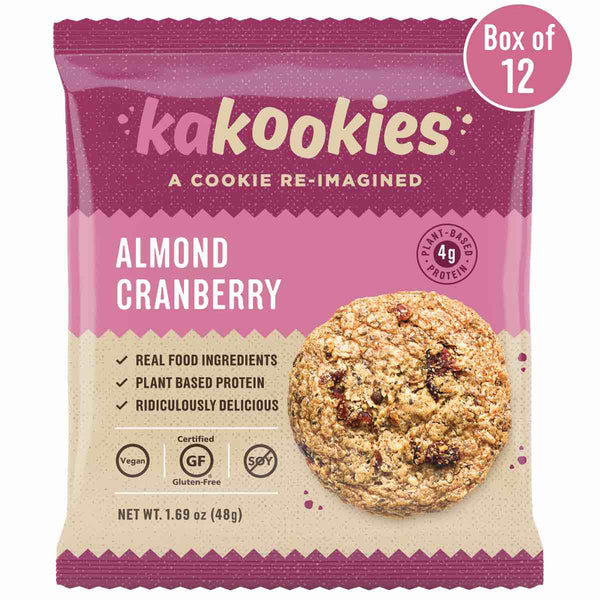 Kakookies Almond Cranberry delicious grab and go breakfast or oatmeal energy snack cookies with almonds and cranberries