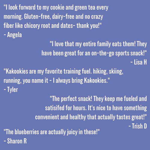 Kakookies Boundary Waters Blueberry energy snack oatmeal cookies reviews