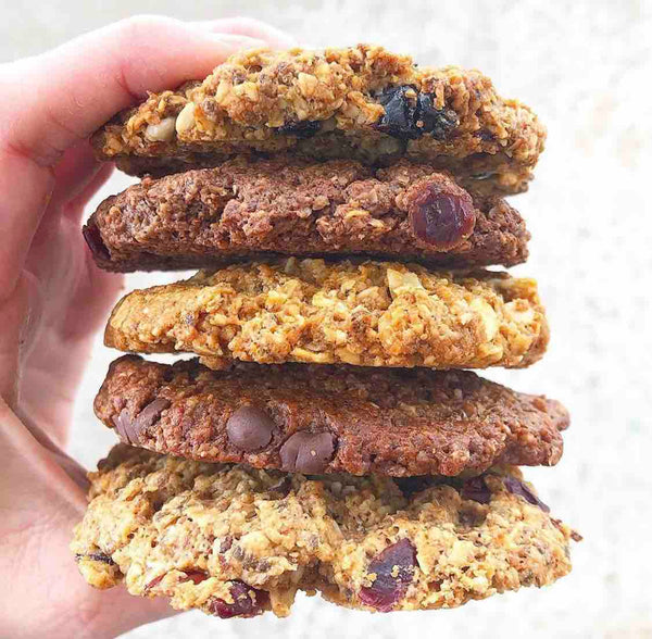Kakookies stack of delicious soft oatmeal cookies